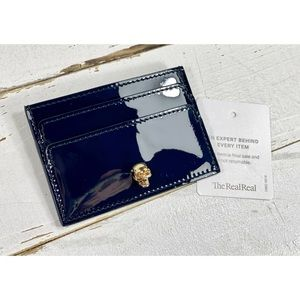 Alexander McQueen Patent Leather Skull CardHolder